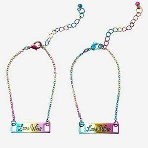 🌈Love Wins 2 bracelet set new sealed